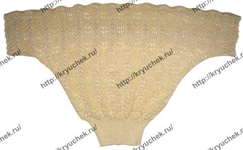 Пример связанной кофточки с рукавом «летучая мышь»