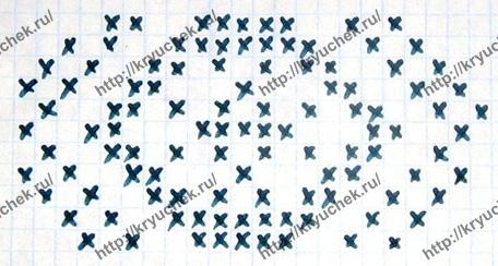 Схема вязания спицами узора для платья