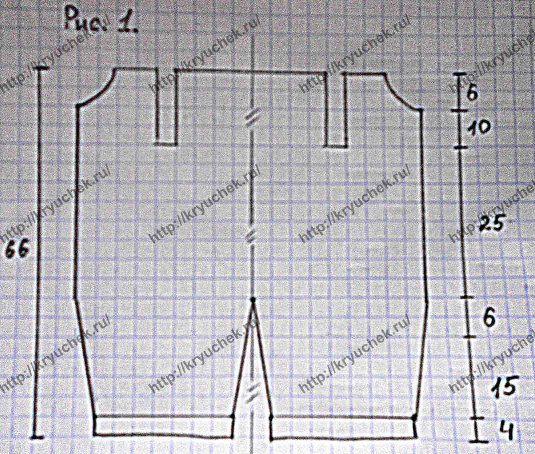 Выкройка для вязания комбинезона