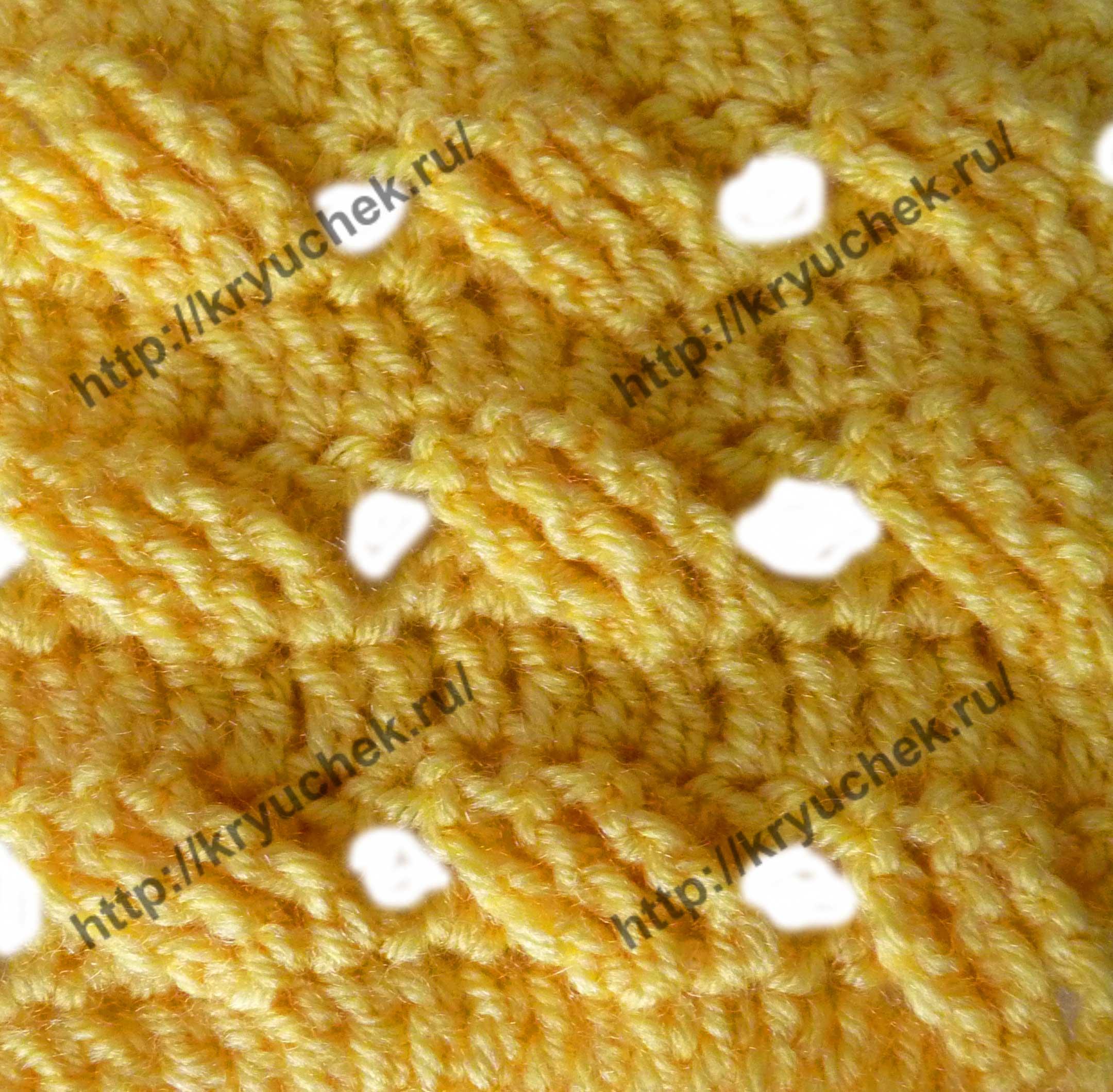 Пример связанного крючком узора «Ажурная плетенка»