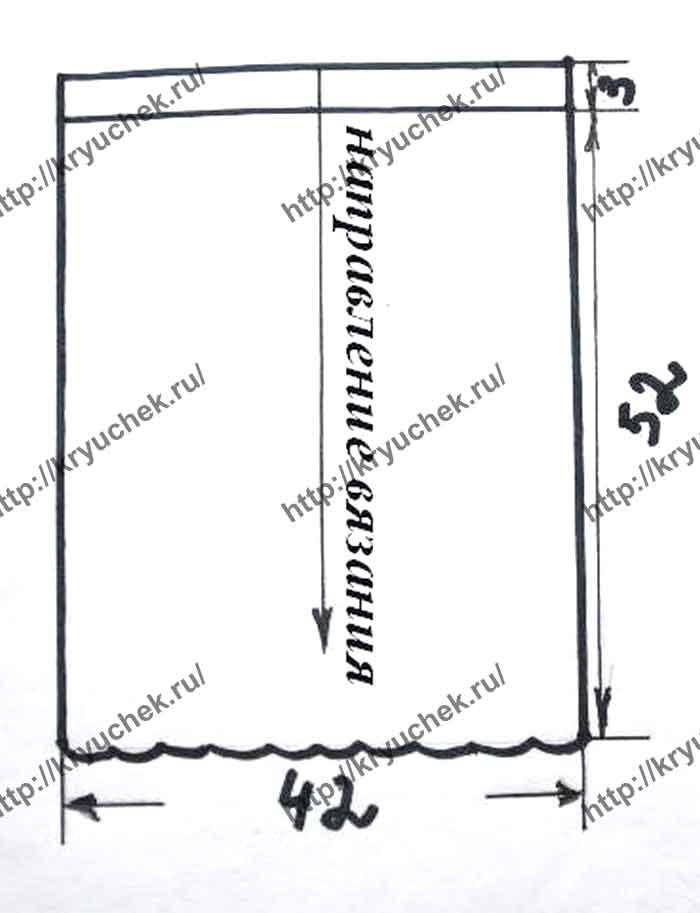 Выкройка для вязания крючком пляжной юбки