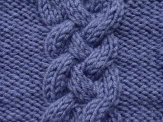 Вязание спицами узора «Косы, Жгуты, Араны»