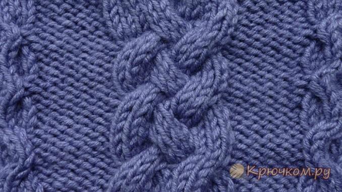 вязание спицами узоры косами