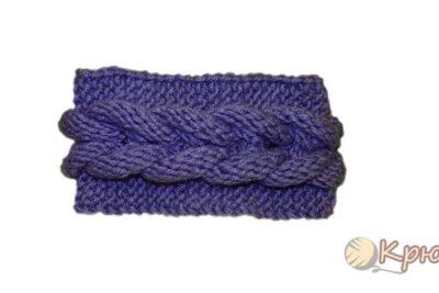 Повязка на голову с плетеной косой