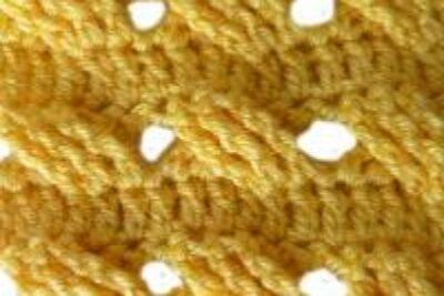 Вязание крючком узора «Ажурная плетенка»