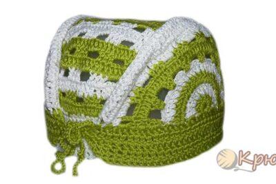 Вязание крючком летней детской шапочки — банданы