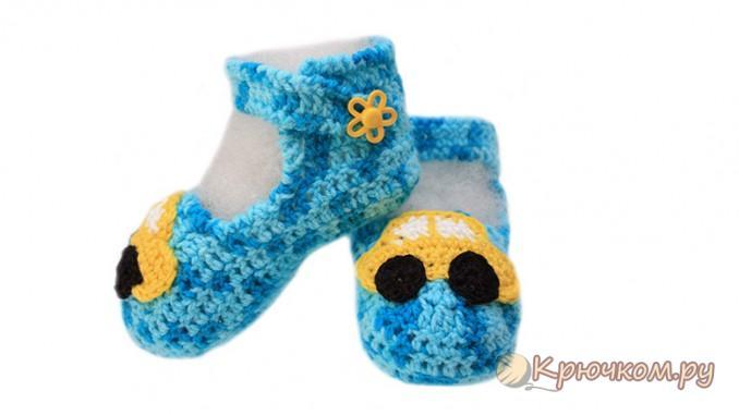 детские сандали крючком