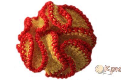 Вязание крючком мотива «Волнистый цветок»