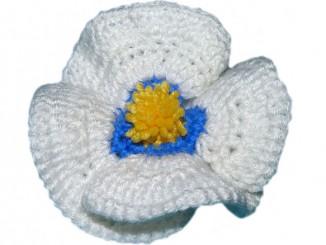 Вязание крючком полевого цветка
