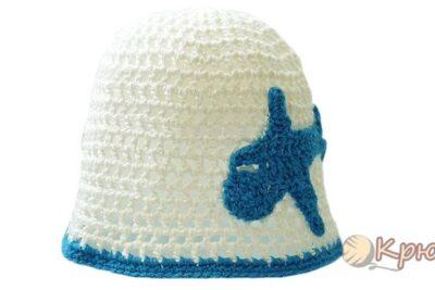 Вязание крючком летней детской шапочки-сеточки