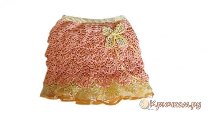 Летняя юбочка для модницы крючком