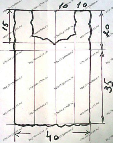 Ажурный топ крючком схема выкройки