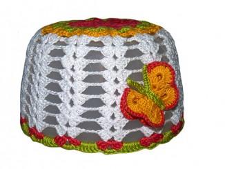 летняя шапочка для девочки крючком