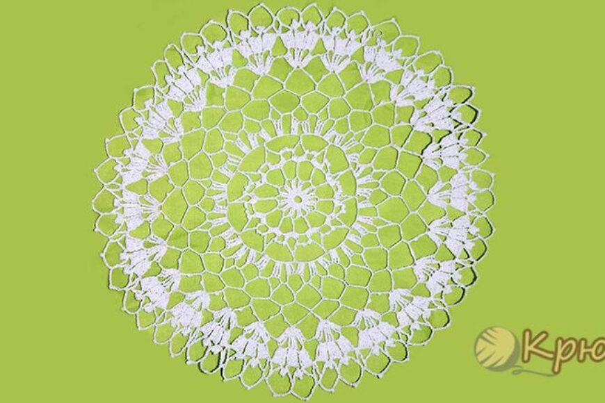 Вязание крючком салфетки «Изюминка»
