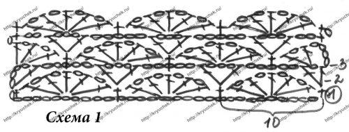 Ажурное болеро для девочки крючком схема основного узора