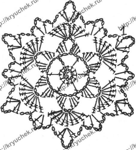 Безрукавка для девочки крючком схема шестиугольного мотива