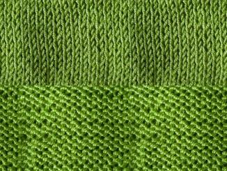 Вязание спицами изнаночных петель, лицевой глади и изнаночной глади