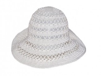 летняя шляпа с полями крючком
