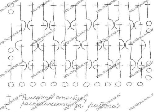 Женская безрукавка крючком схема обвязки
