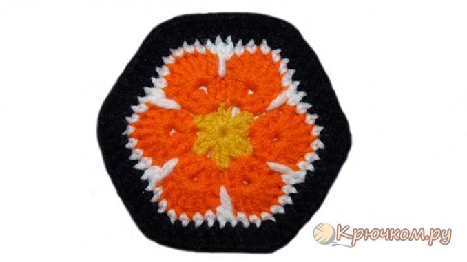 Мотив африканский цветок
