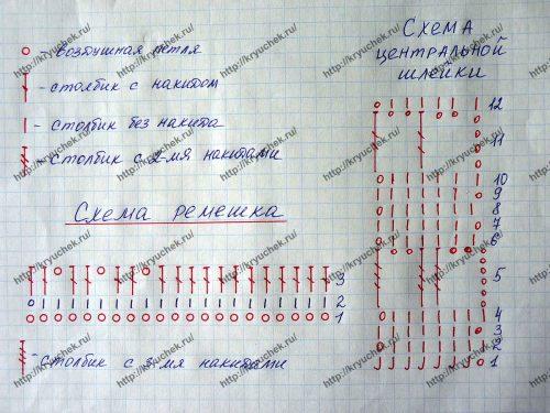Пинетки-сандалики крючком схема шлейки и мыска