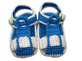 Вязание крючком детских сандалек