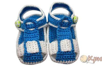 Пинетки-сандалики крючком