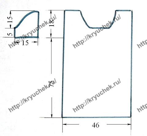Схема выкройки кружевного платья цвета фуксии крючком