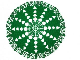 Новогодняя салфетка Ёлочки крючком