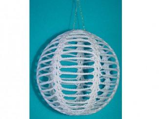 Большой новогодний шар для декора дома крючком
