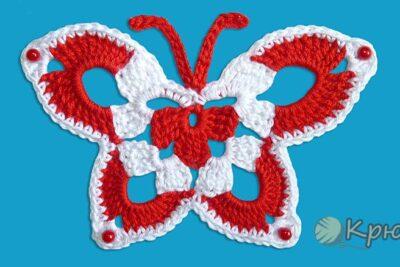 Бабочка крючком для украшения