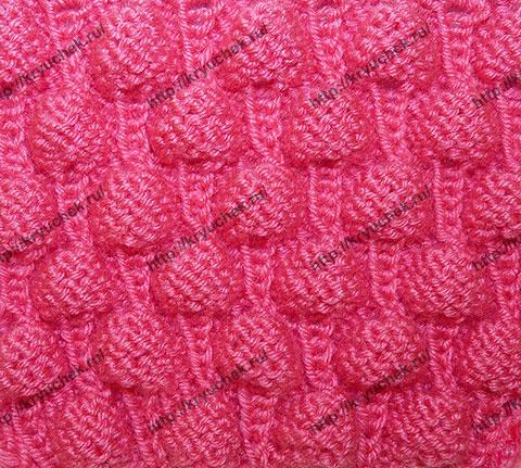 Вязание на спицах-узор малинка 35