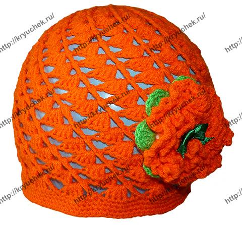 Детская шапочка крючком, связанная по спирали (видео урок и схема вязания)