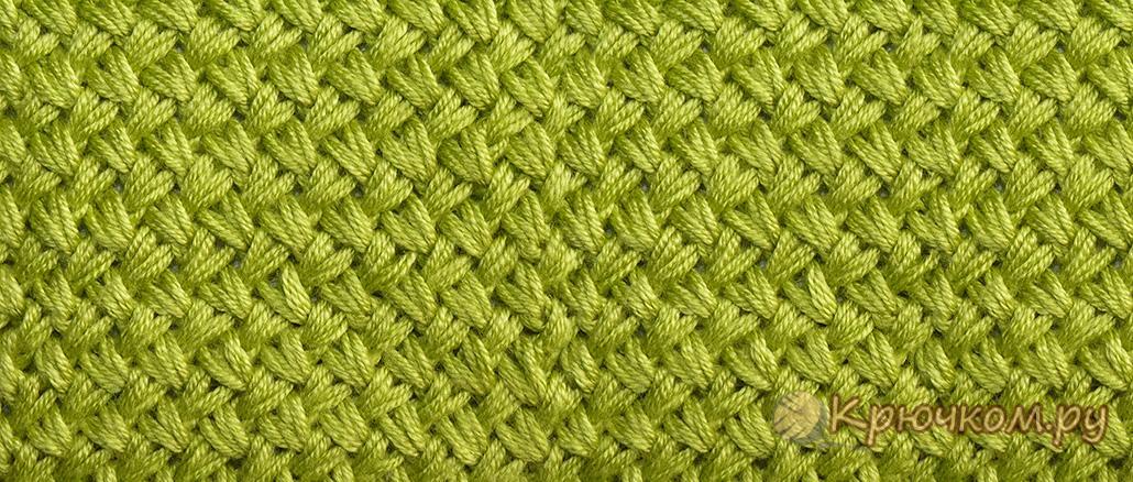 -мелкая-плетенка-спицами-1030-2 Узор плетенка спицами — схема, описание, видеоурок