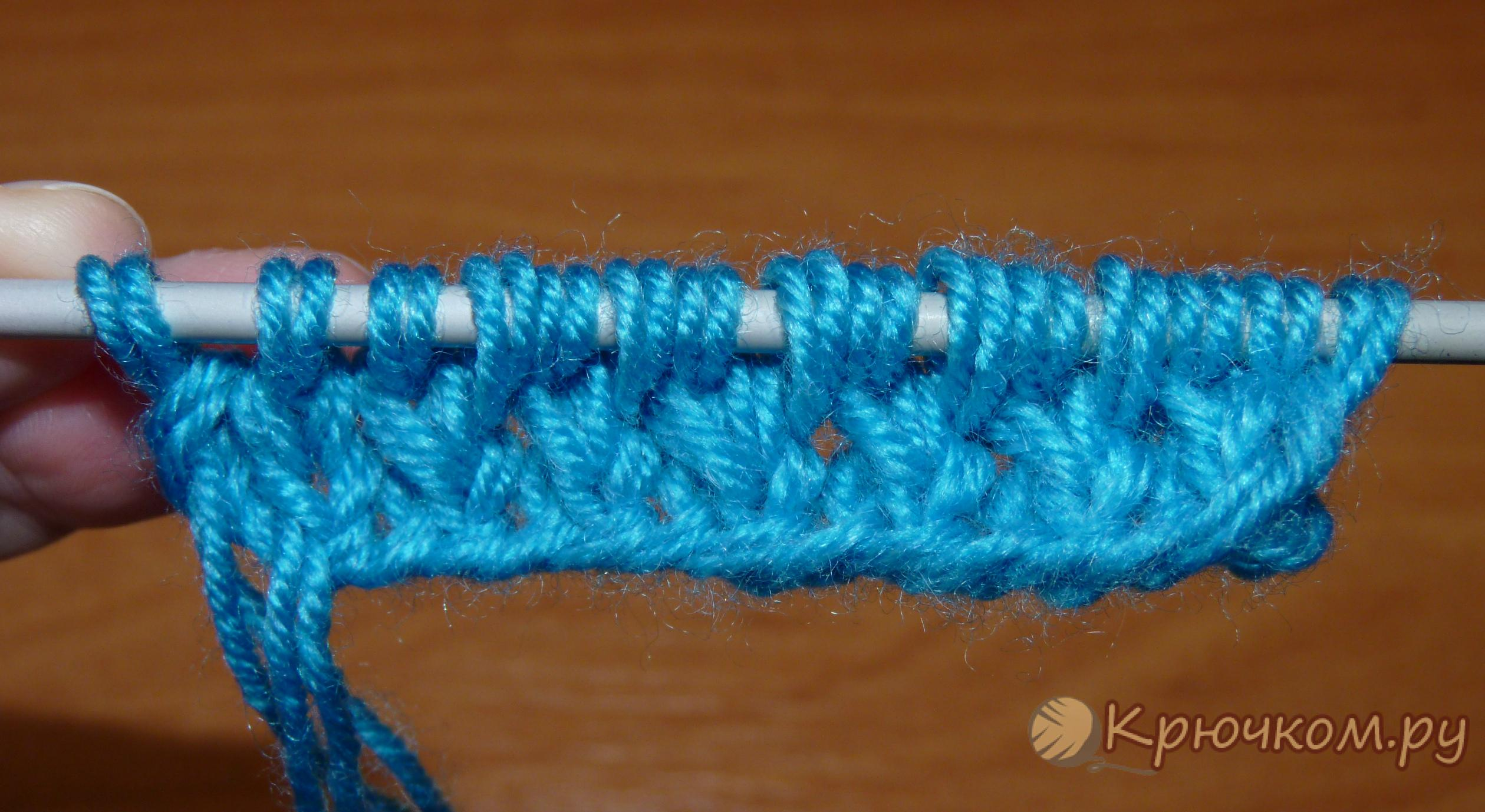 Мастер класс вязания узора кос спицами