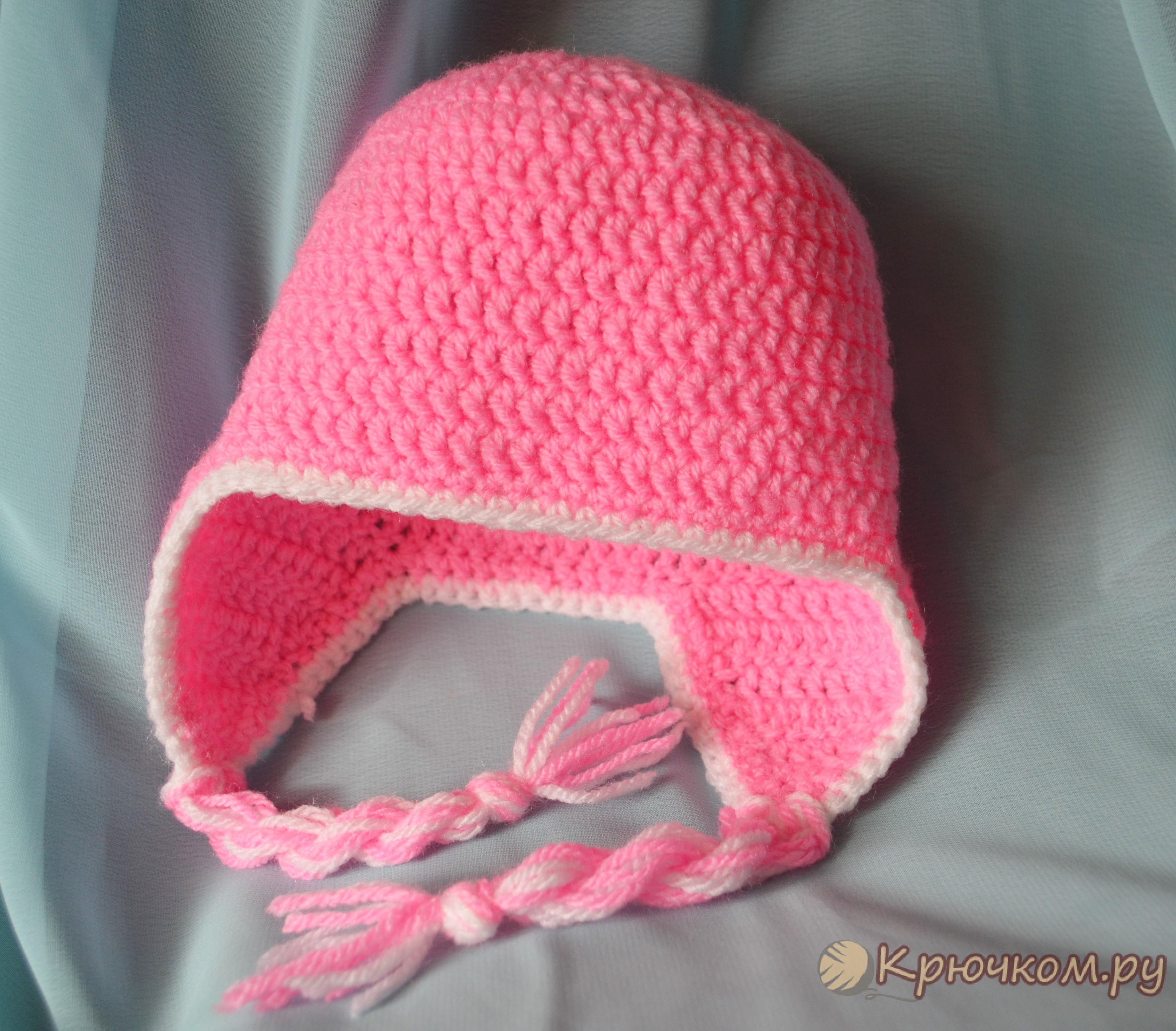 шапочка для новорожденного крючком фото мастер класс
