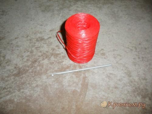 Сумка-корзинка крючком