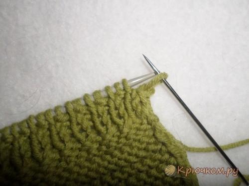 Закрытие петель на резинке с помощью иглы