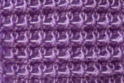 Двухсторонний узор Ажурные ячейки спицами