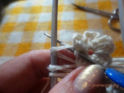 Вязание на вилке для начинающих