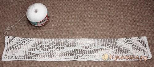 Картина в технике филейное вязание