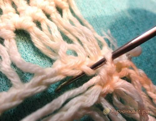 Соединение полос, связанных на вилке