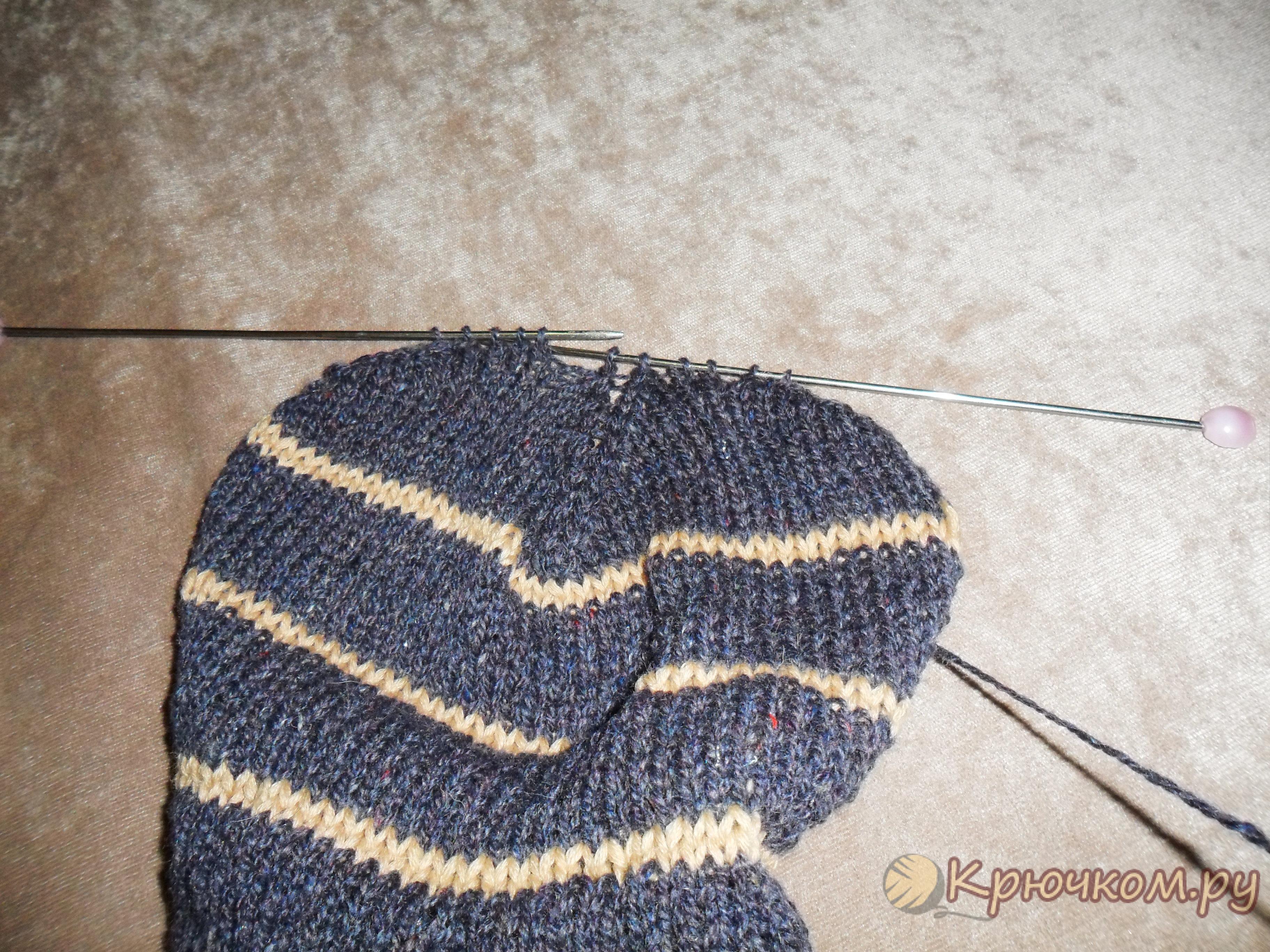 вязание носков на двух спицах фото мастер класс