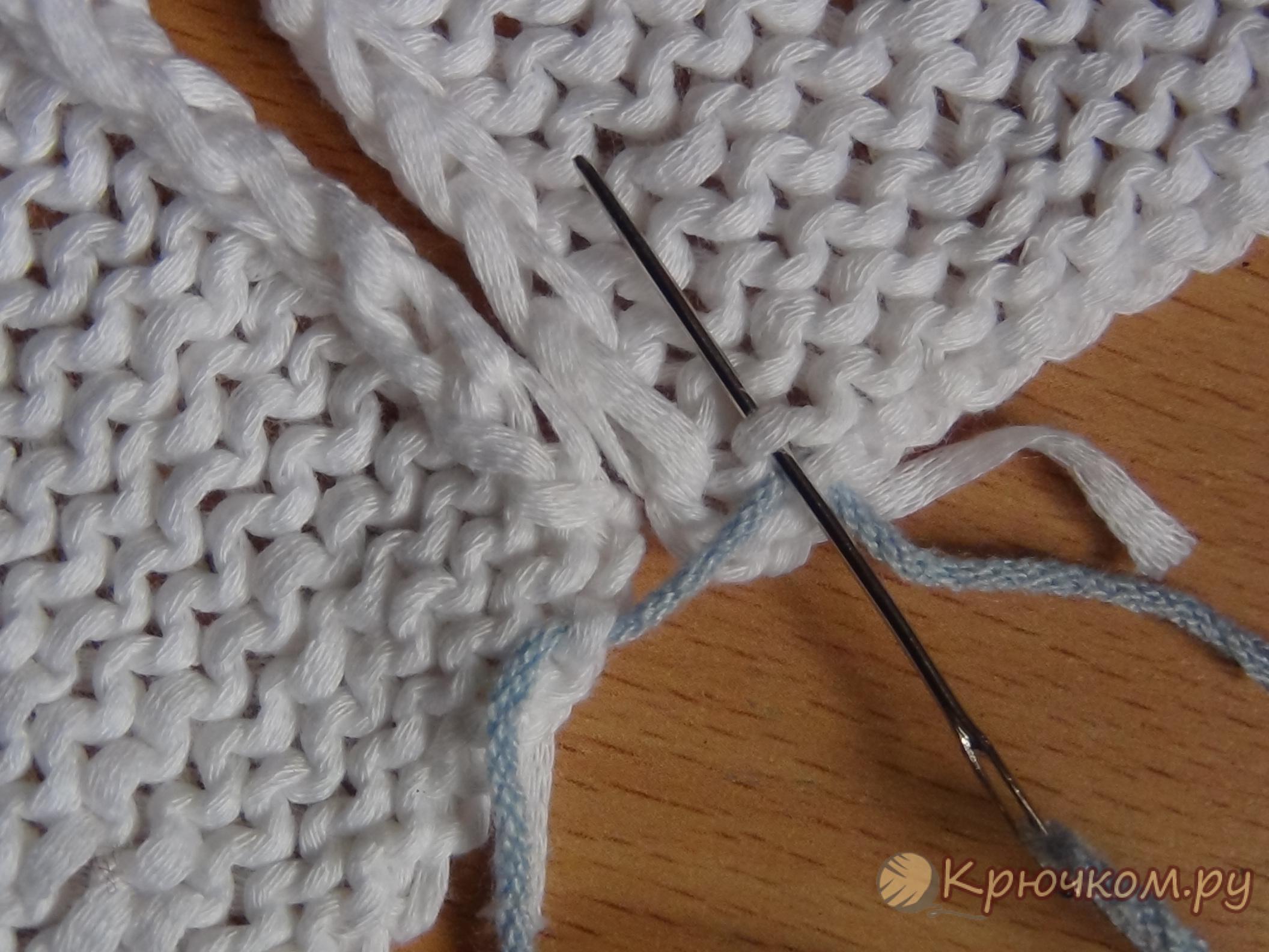 как сшиватт вещи крупной вязки