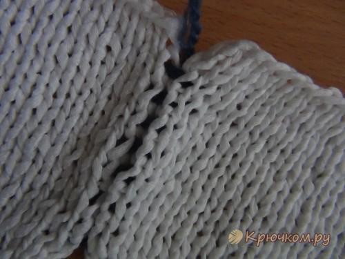 Как сшить детали связанные спицами