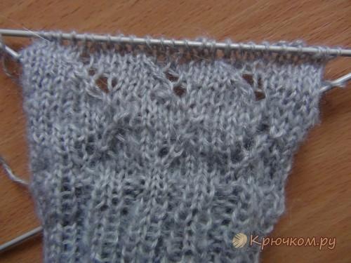 Ажурные перчатки спицами
