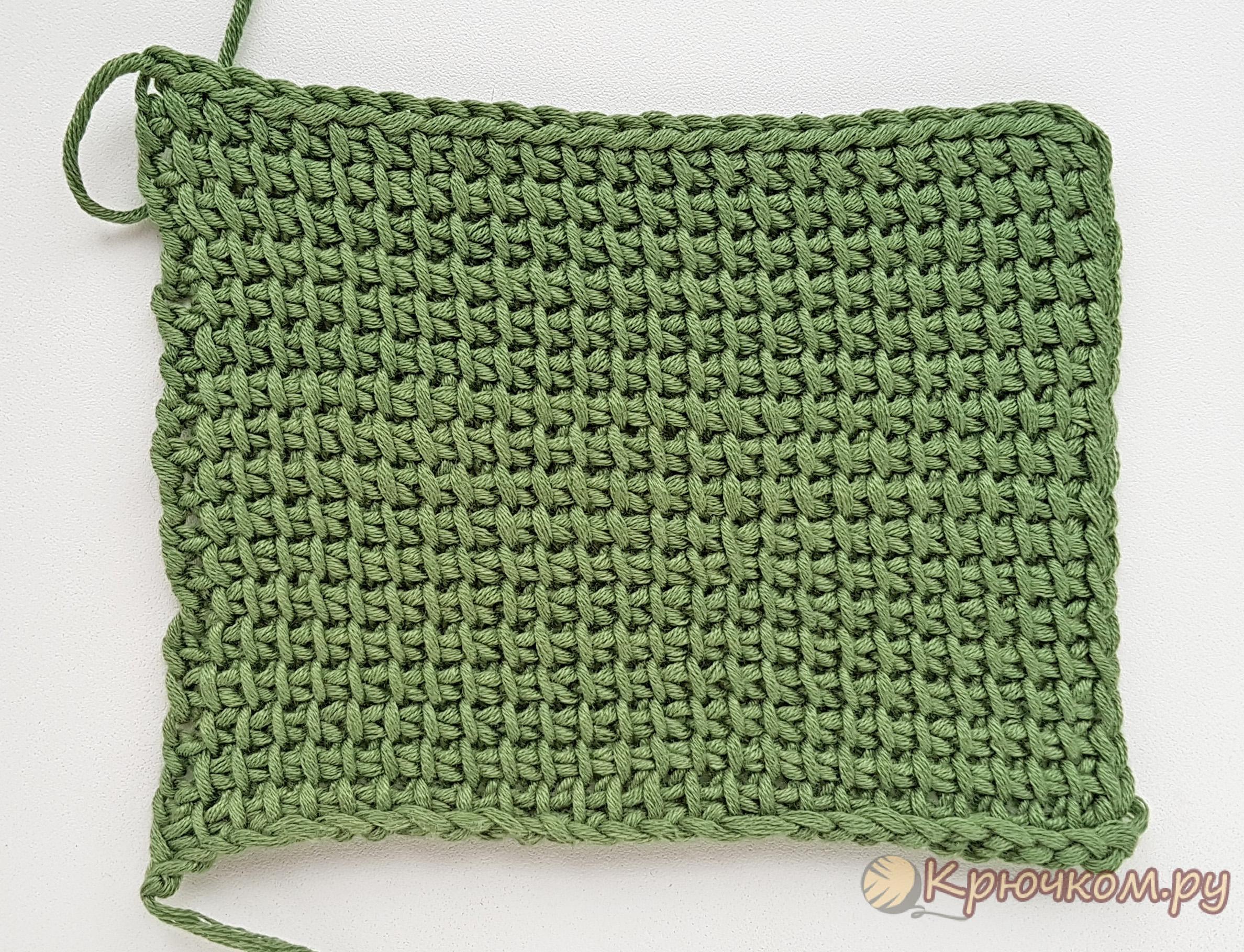 -вязание-для-начинающих-лицевая-сторона Тунисское вязание для начинающих (видео и фото МК)