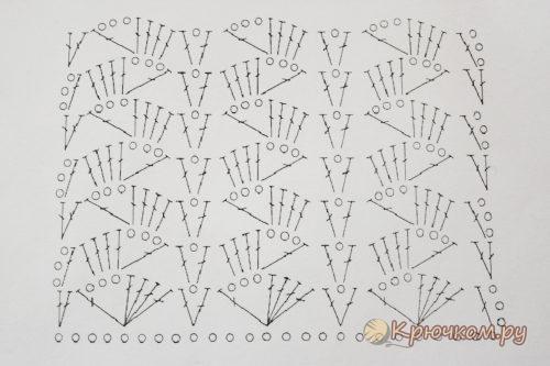 Схема летнего чепчика для новорожденного крючком