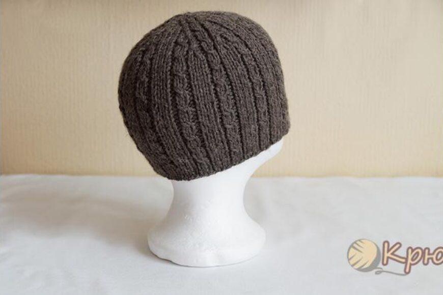 Мужская шапка с косами