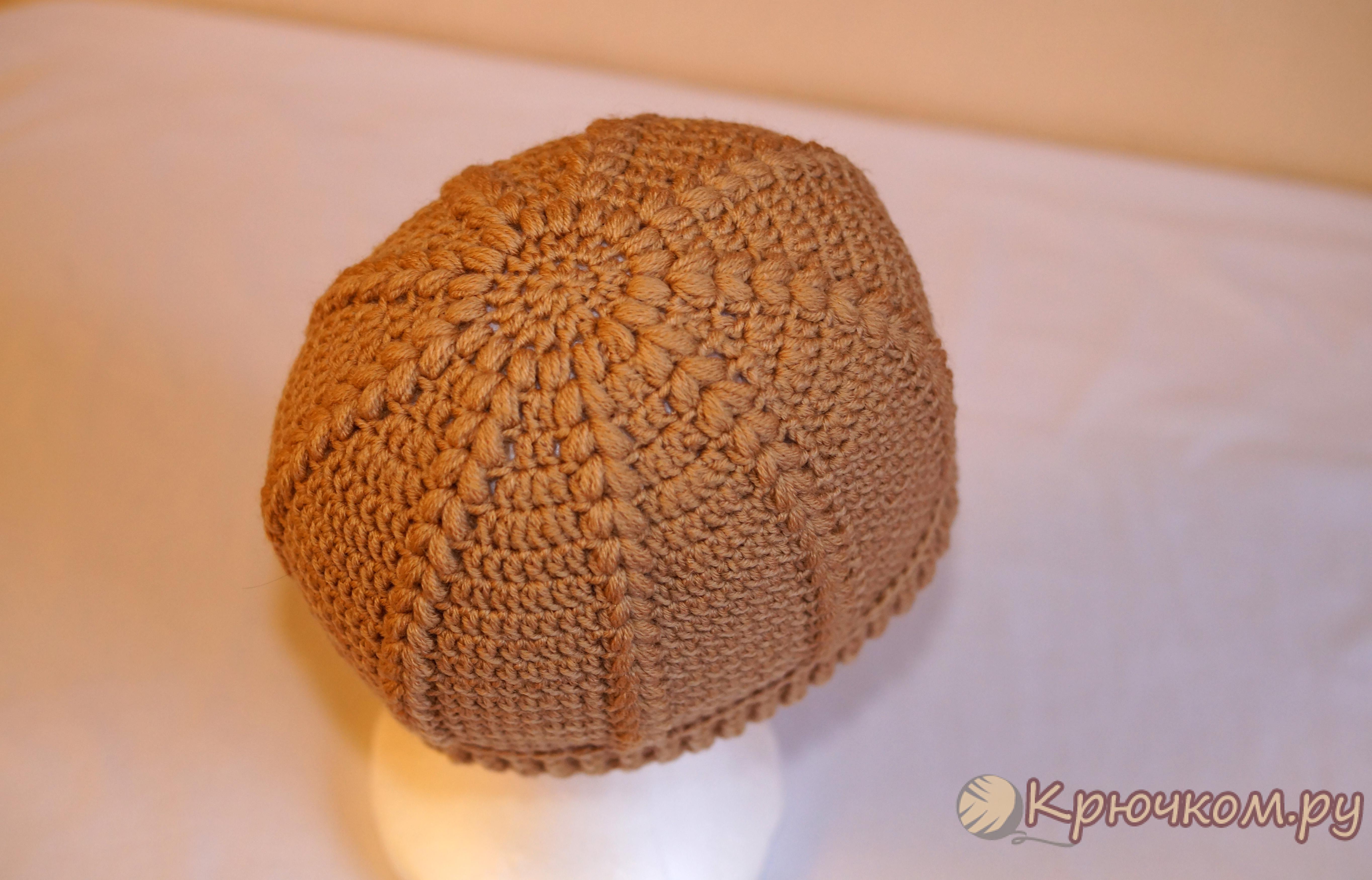 схема шапки крючком на зиму